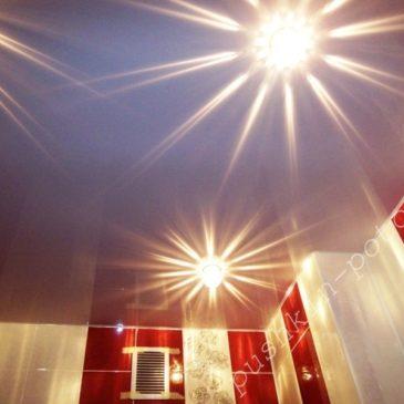 ПВХ потолок в ванной комнате